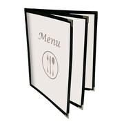 Futech - Support de cartes de menu 6 volets BLK, 8 1/2 po lar. x 11 po haut., paq./10