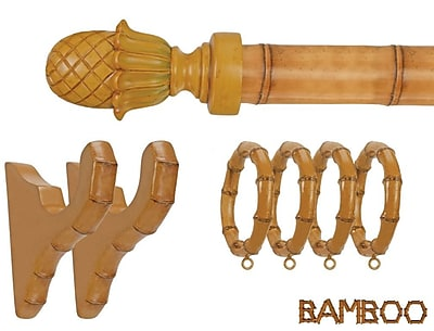 Menagerie Bamboo Pineapple Curtain Finial