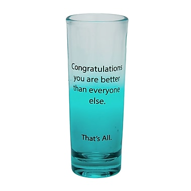 That's All. Congratulations Shot Glass (Set of 4)