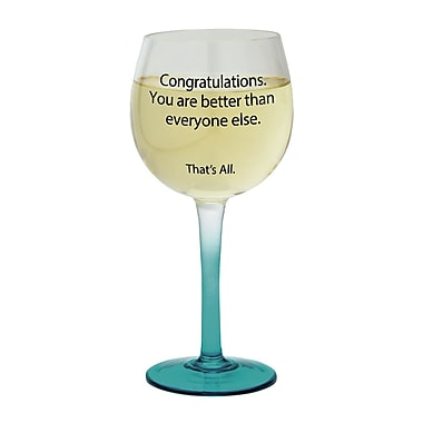 That's All. Congratulations Wine Glass (Set of 2)