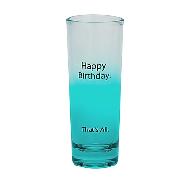 That's All. Happy Birthday Shot Glass (Set of 4)