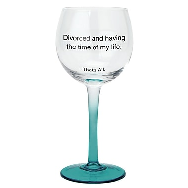 That's All. Divorced Cheers Wine Glass (Set of 2)
