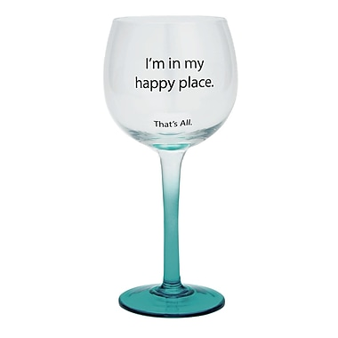 That's All. Happy Place Wine Glass (Set of 2)