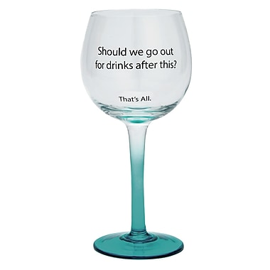 That's All. Out For Drinks Wine Glass (Set of 2)