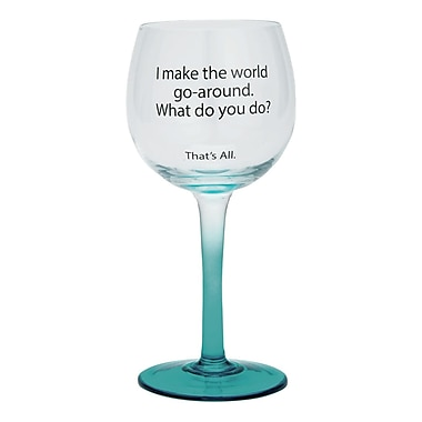 That's All. World Go 'Round Wine Glass (Set of 2)
