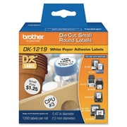 "Brother ® 0.47"" Direct Thermal Label Tape, White, 1200 Labels/Roll (DK1219)"