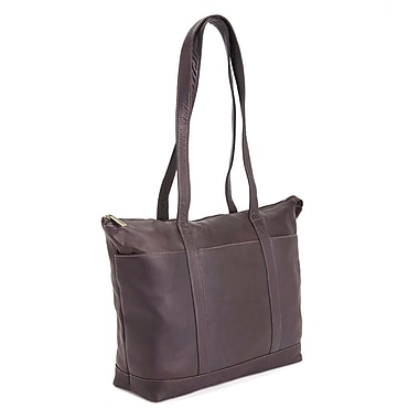 Royce Leather 24-Hour Women's Travel Tote Bag in Colombian Leather (634-CAFE-VL)