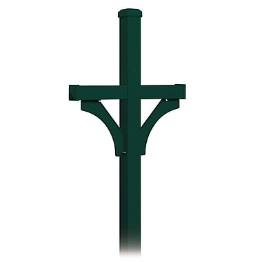 Salsbury Industries 7 Ft. H In-Ground Multi-Mount Post; Green