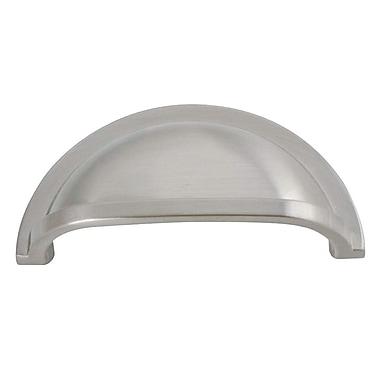 HickoryHardware Williamsburg 3'' Center Cup/Bin Pull; Stainless Steel