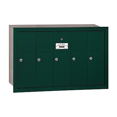 Salsbury Industries 5 Door Front Load Vertical Mail Center; Green