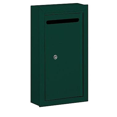 Salsbury Industries Aluminum 1 Unit Drop Box; Green