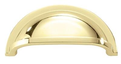 HickoryHardware Williamsburg 3'' Center Cup/Bin Pull; Polished Brass WYF078276389194