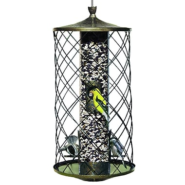 Birdscapes The Preserve Caged Tube Bird Feeder