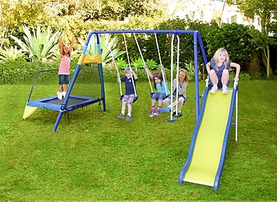 Natus Inc Almansor Metal Trampoline/Slide and Swing
