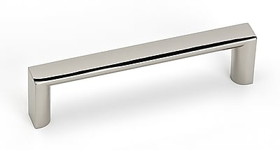 Alno Style Cents 3.75'' Center Bar Pull; Polished Nickel