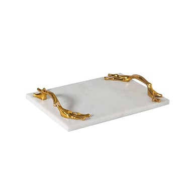 Studio A Twig Brass Serving Tray; Small