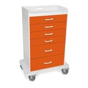 TrippNT 5 Caster Procedure Storage Cart; Pumpkin Orange