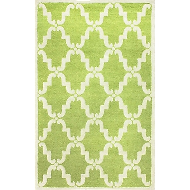 nuLOOM Divina Hand Tufted Green Area Rug; Rectangle 7'6'' x 9'6''