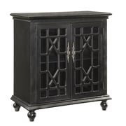 Coast to Coast Imports 2 Door Cabinet; Edwardsville Textured Black