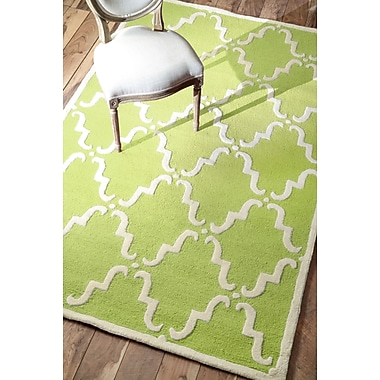 nuLOOM Divina Hand Tufted Green Area Rug; Rectangle 5' x 8'