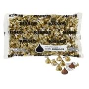 KISSES Milk Chocolates with Almonds, Gold, 66.7 oz
