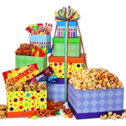 Gourmet Gift Basket Happy Birthday Gourmet Tower 4LB