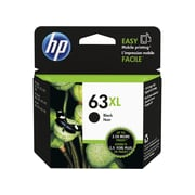 HP 63XL Black Ink Cartridge, High-Yield (F6U64AN#140)