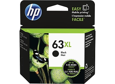 HP 63XL Black Ink Cartridge, High-Yield (F6U64AN#140)
