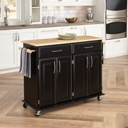 "Home Styles 35.5"" Sustainable Hardwood Kitchen Island Cart"