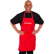 Flirty Aprons Men's ''Kiss The Cook'' Apron in Red