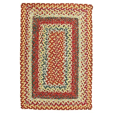 Homespice Decor Cotton Four in Nine Patch Rug; 5' x 8'