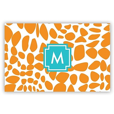 Whitney English Lizard Single Initial Laminated Placemat; X
