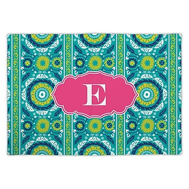 Whitney English Suzani Single Initial Fabric Placemat; R