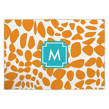 Whitney English Lizard Single Initial Fabric Placemat; U