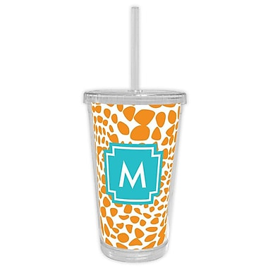 Whitney English Lizard Single Initial Beverage Tumbler; F