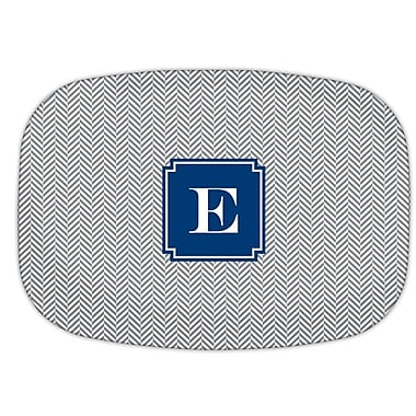 Boatman Geller Herringbone Single Initial Melamine Plate; H