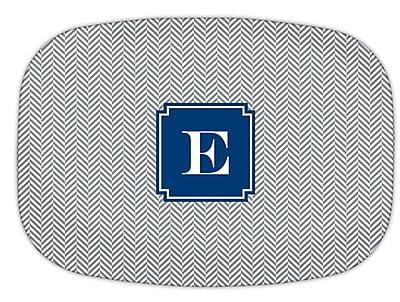 Boatman Geller Herringbone Single Initial Melamine Plate; F