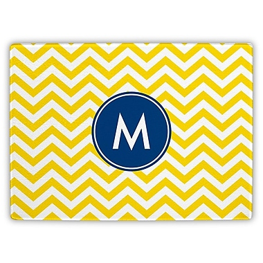 Boatman Geller Chevron Single Initial Cutting Board; W