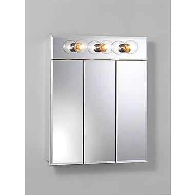 Jensen Ashland 23.5'' x 27.75'' Surface Mount Medicine Cabinet w/ Lighting