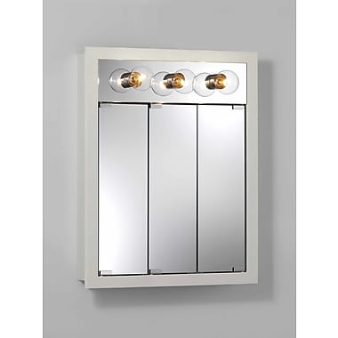 Jensen 24'' x 30'' Surface Mount Medicine Cabinet w/ Lighting; White