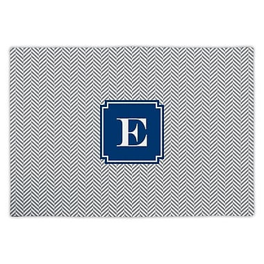 Boatman Geller Herringbone Single Initial Fabric Placemat; E