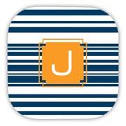 Dabney Lee Block Island Single Initial Cork Coaster (Set of 4); K