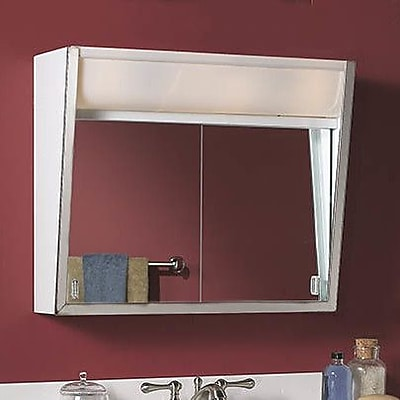 Jensen Specialty Flair 24'' x 19.5'' Surface Mount Medicine Cabinet w/ Lighting