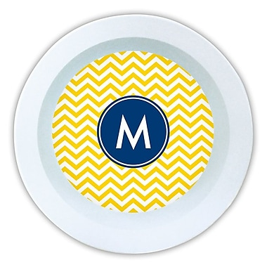 Boatman Geller Chevron Single Initial Melamine Serving Bowl; J
