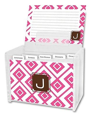 Dabney Lee Lucy Single Initial Recipe Box; E