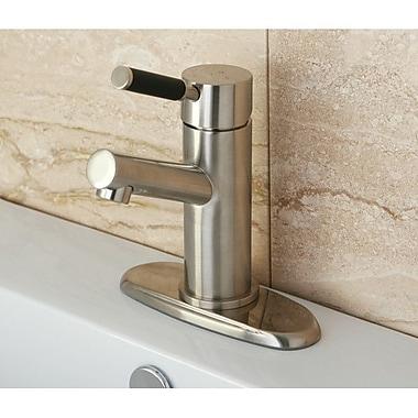 Kingston Brass Kaiser Single Handle Bathroom Faucet w/ ABS Pop-Up Drain; Satin Nickel
