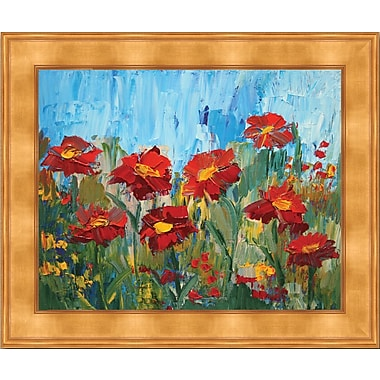 HadleyHouseCo Flowers In The Sun by Elaine Lanoue Framed Painting Print; 20'' H x 24'' W x 1.5'' D