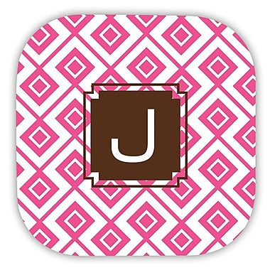Dabney Lee Lucy Single Initial Cork Coaster (Set of 4); E
