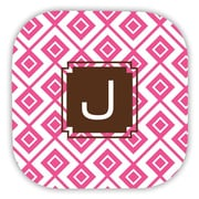 Dabney Lee Lucy Single Initial Cork Coaster (Set of 4); T