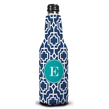 Whitney English Designer Lattice Single Initial Bottle Beverage Sleeve; E